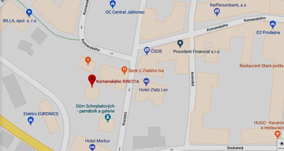 POZOR ZMĚNA adresy regionální kanceláře